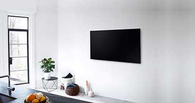شکل1- نصب تلویزیون روی دیوار