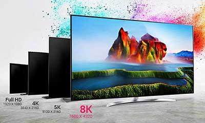 برندهای تولید کننده تلویزیون 8k